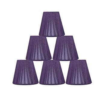 Urbanest purple string mini chandelier lamp shade 3x5x45 urbanest purple string mini chandelier lamp shade 3x5x45quot hardback clip aloadofball Choice Image