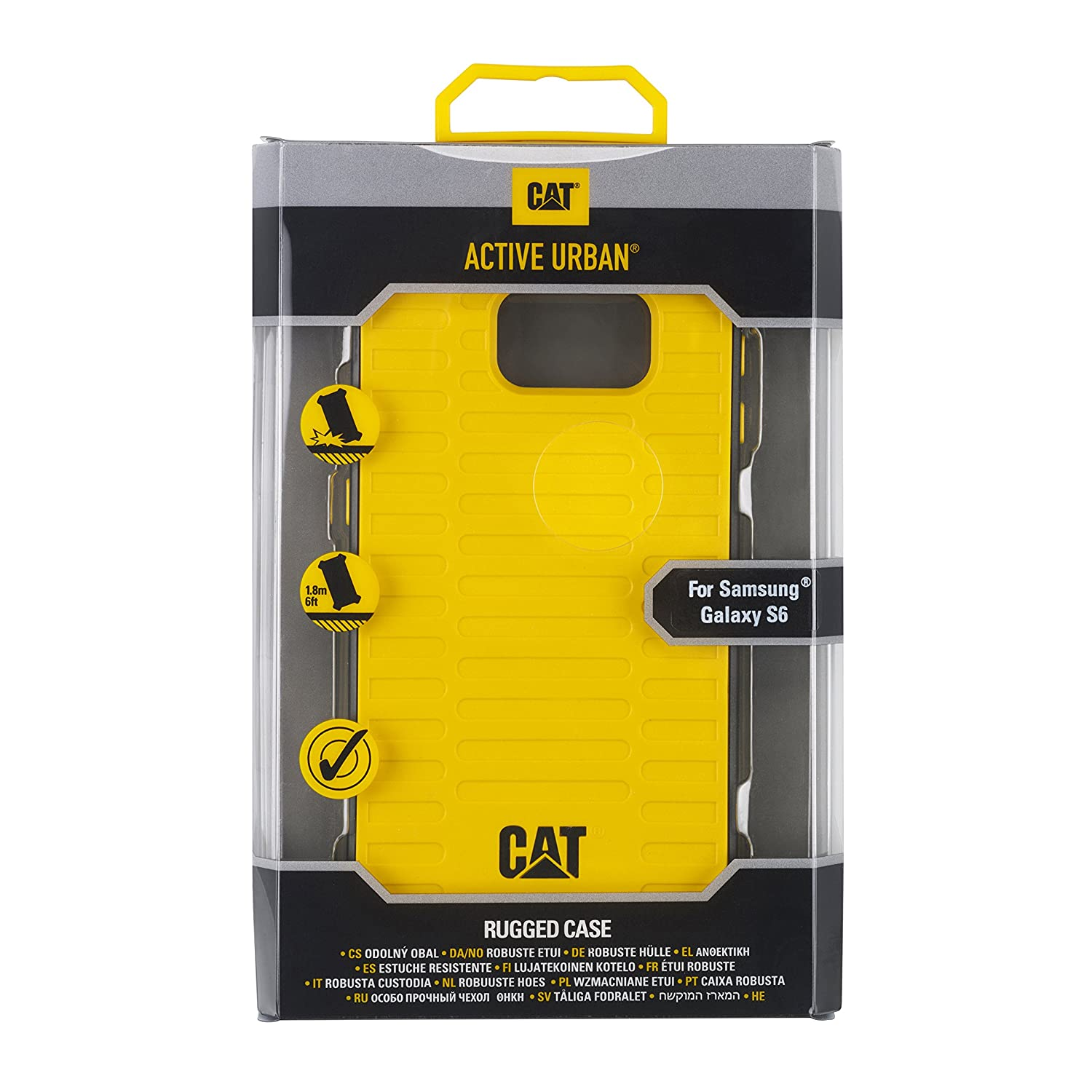 Amazon.com: CAT PHONES Active Urban Case for Samsung S6 - Yellow: Cell Phones & Accessories