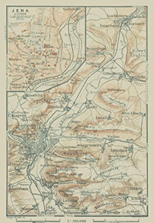 Map Of Germany In 1914.Amazon Com Maps Of The Past International Map Jena Germany