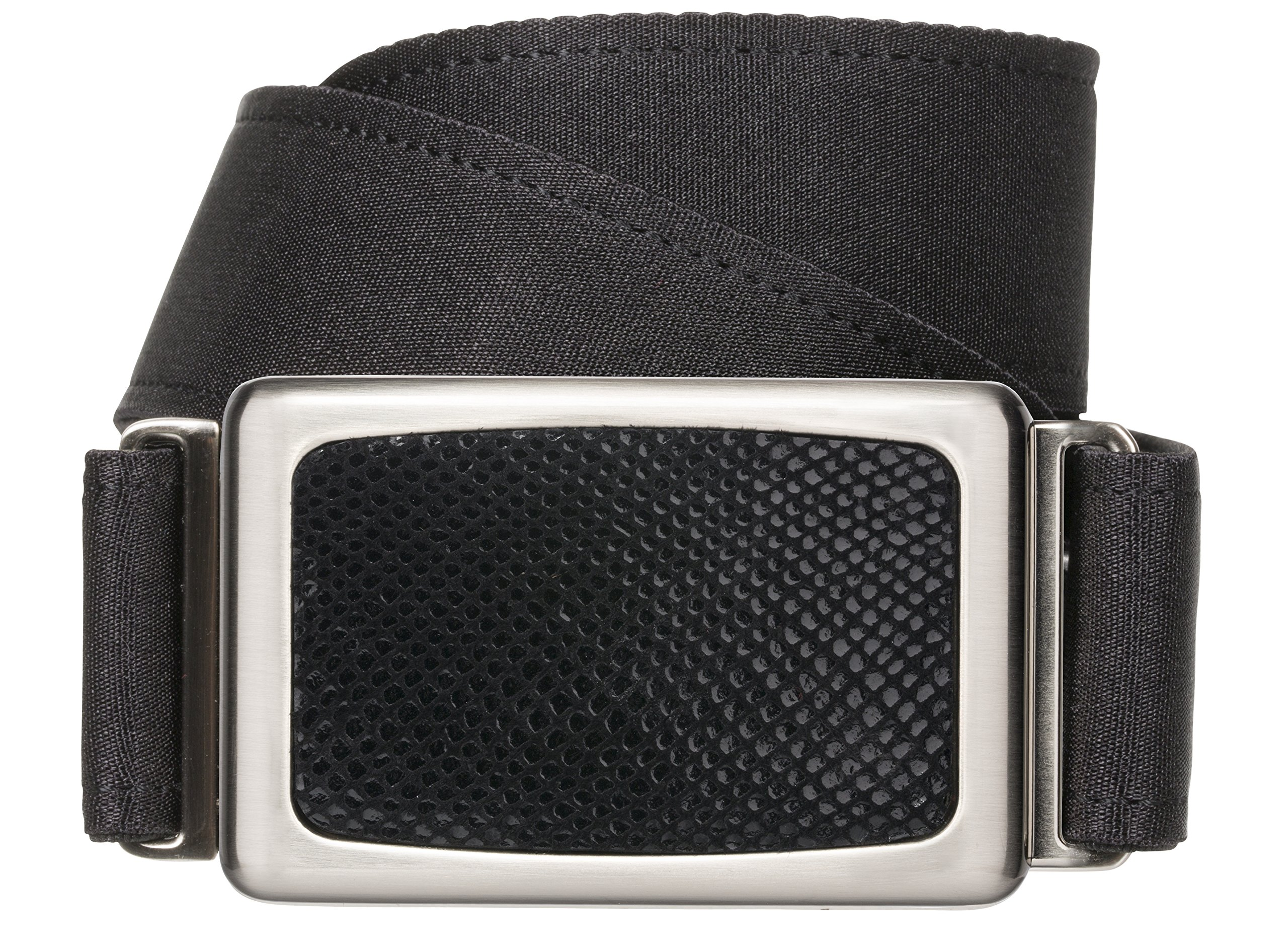 hipsi belt Invisible, Slimming, Hidden, Stretch Flat Belt for Women Medium - Black by hipsi