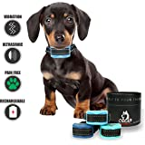 Bark Collar Small Dog. Pain Free Vibration Bark Collars and Harmless Fully Adjustable Shock Collars. Choose Beep - Ultrasonic - Vibration - Shock. 2018 Upgraded No Bark Collars. 3lbs up to 120lbs