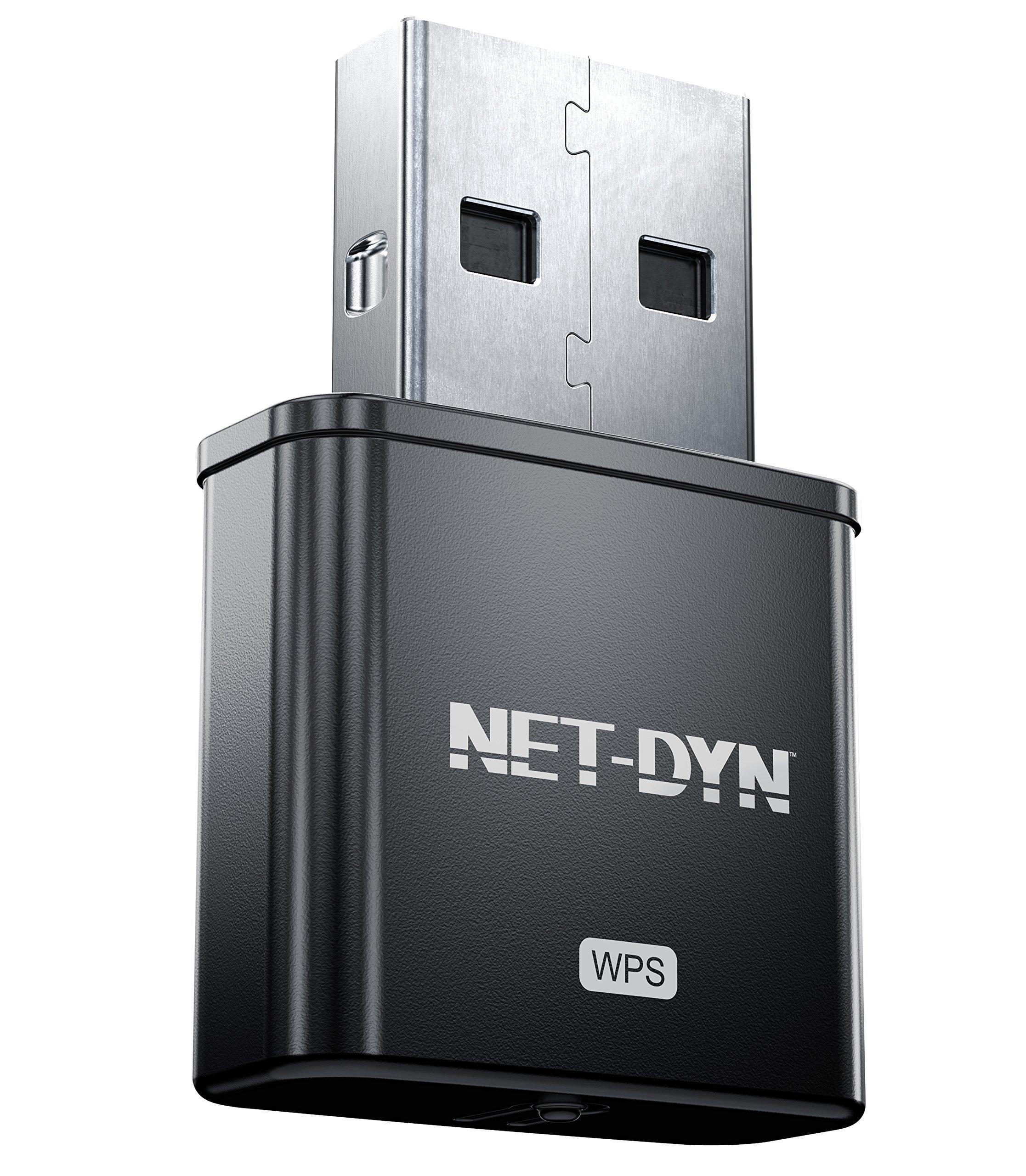 NET-DYN 300M USB WiFi Adapter Internal Antenna-300Mbps-Wireless Internet Dongle for PC Plus Mac