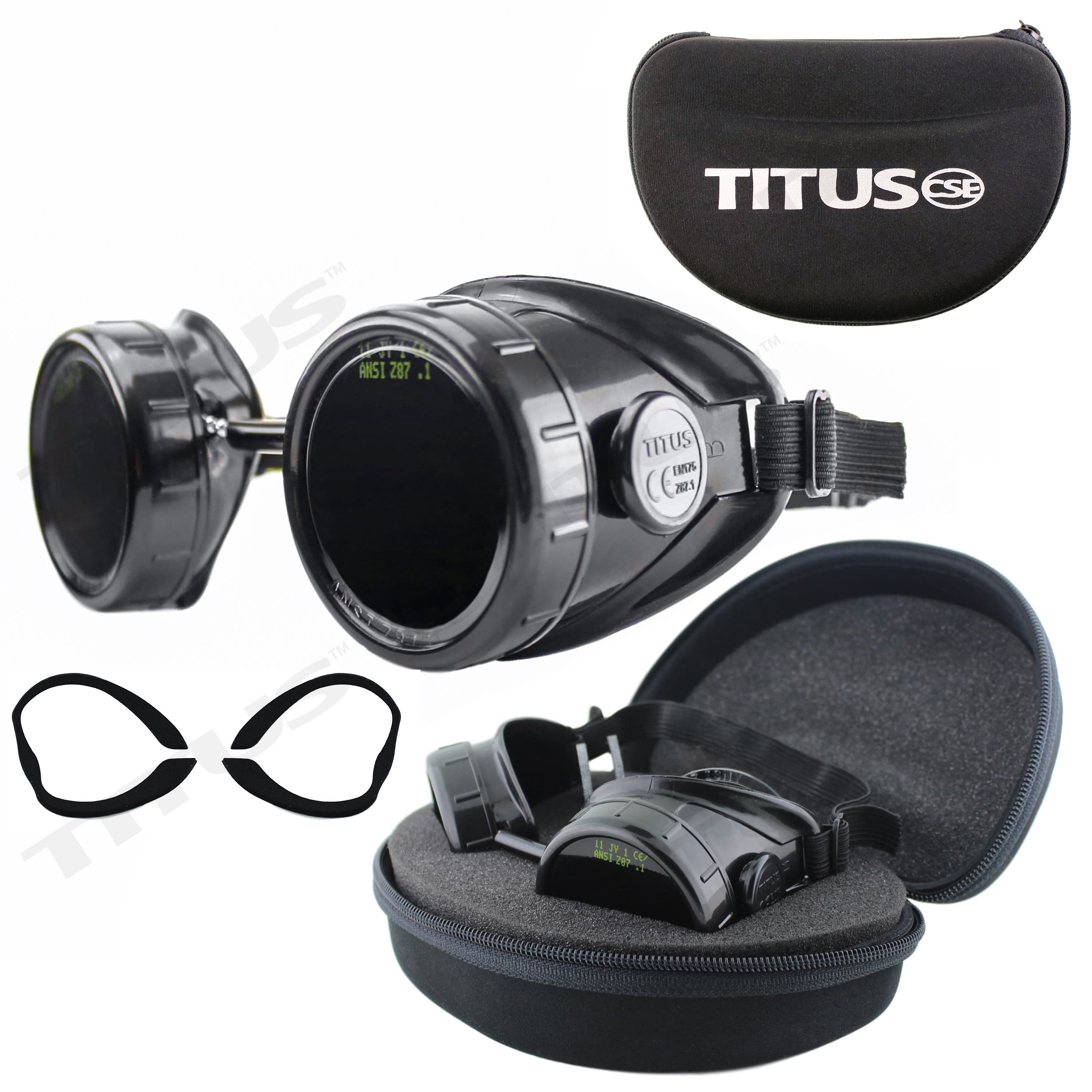 TITUS Welding Safety Goggles with Interchangeable Lenses (Low: #5, #8, #11)