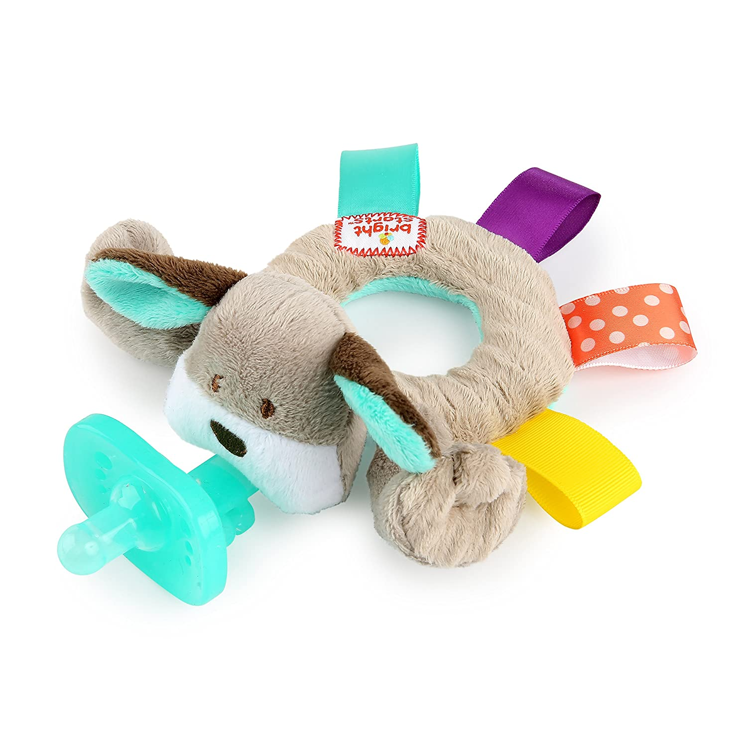 Bright Starts Taggies Cozy Coo Ring Pal, Pink