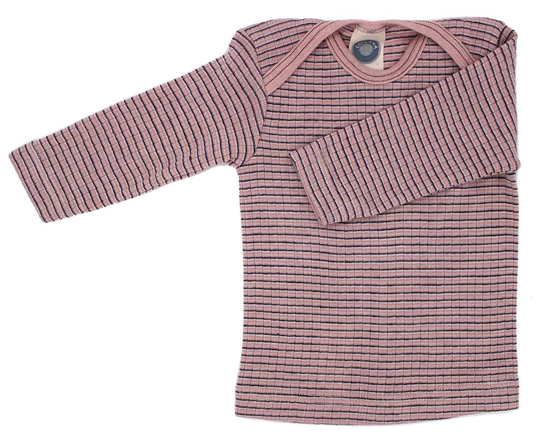 Cosilana - Baby T-Shirt Long Sleeve, 45% Organic Cotton, 35% Organic Merino Wool, 20% Silk