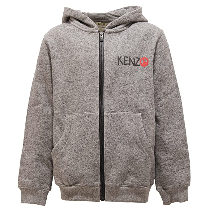 724c47094fba Kenzo 2560V Felpa Bimbo Kids Capo Grey Cotton Full Zip Sweatshirt Boy Kid   8 Years   Amazon.de  Bekleidung