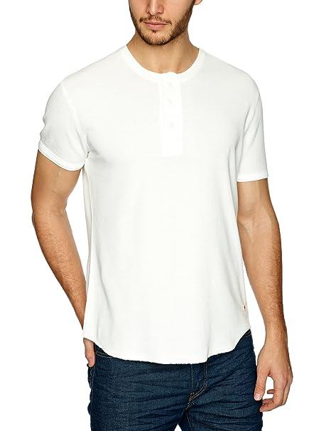 Levis Ss Slim Waffle Henley - Camiseta slim de manga corta para hombre, talla 2XL, color blanco (white smoke): Amazon.es: Ropa y accesorios