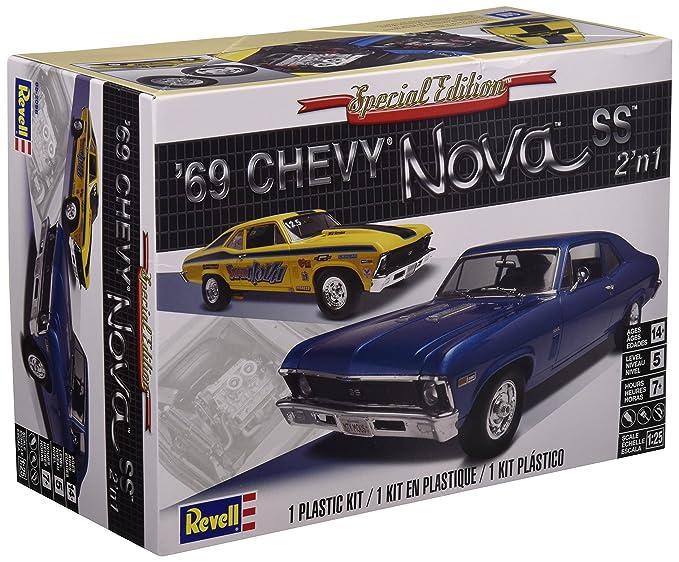revell 1 25  : Revell 1:25 `69 Chevy Nova SS: Toys & Games