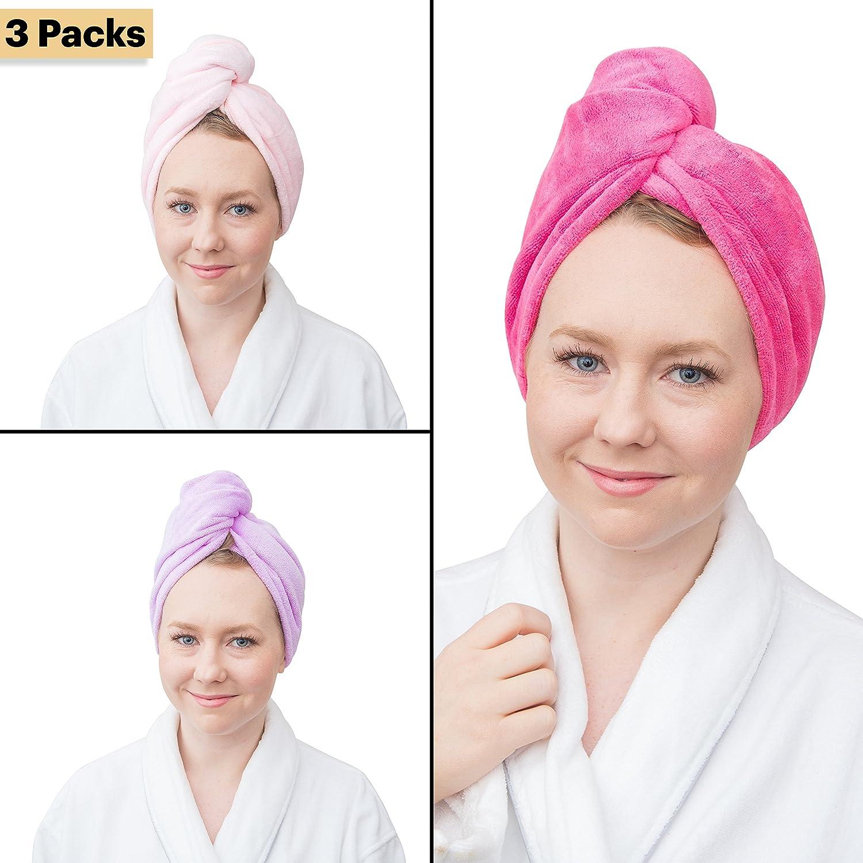 Fine Touch White Wrap & Twist Microfiber Super Absorbent Hair Bath Towel (R) Sheesham Ivy LLP