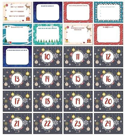 Message Pour Calendrier De L Avent.Calendrier De L Avent Avec 24 Individuels Amour Messages A