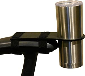 Arm Rest Cup Holder (The Arch) - Works with Many Tumblers (20/30 Ounce), Wine Glasses, and Most Other Containers with Tapered (Angled) Sides - for Wheelchairs, Scooters, Office Chairs, Stadium Seats