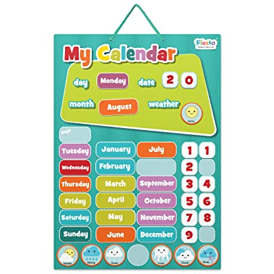 Fiesta Crafts My Calendar Magnetic Activity Chart- Blue: Toys & Games