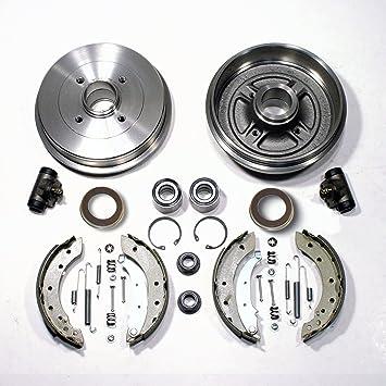 Tambor de freno y frenos Kit con anillos ABS + - Rodamiento De Rueda Trasera: Amazon.es: Coche y moto