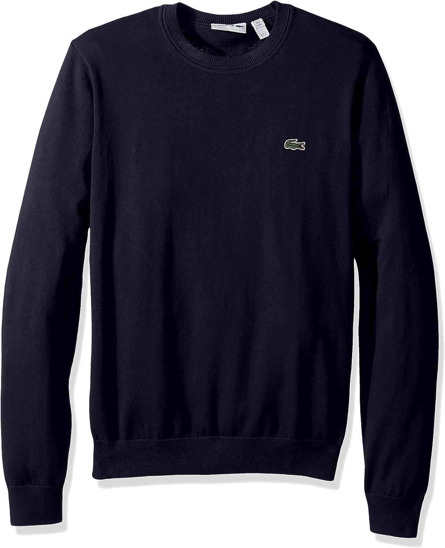 Lacoste Mens Cotton Jersey Crew Neck Sweater AH7901-51