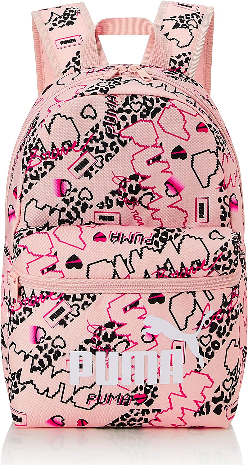 Peachskin-girls Aop PUMA Unisex Kids Phase Small Backpack One Size