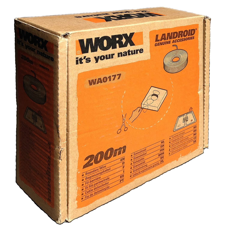 Worx WA0177 Cable Perimetral, Negro, 200 m