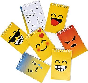 Amazon.com: 48 mini blocs de notas con emoticonos temáticos ...