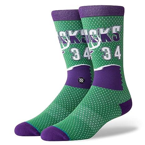 Stance Milwaukee Bucks Ray Allen #34 Jersey 96 HWC NBA calcetines, color verde,
