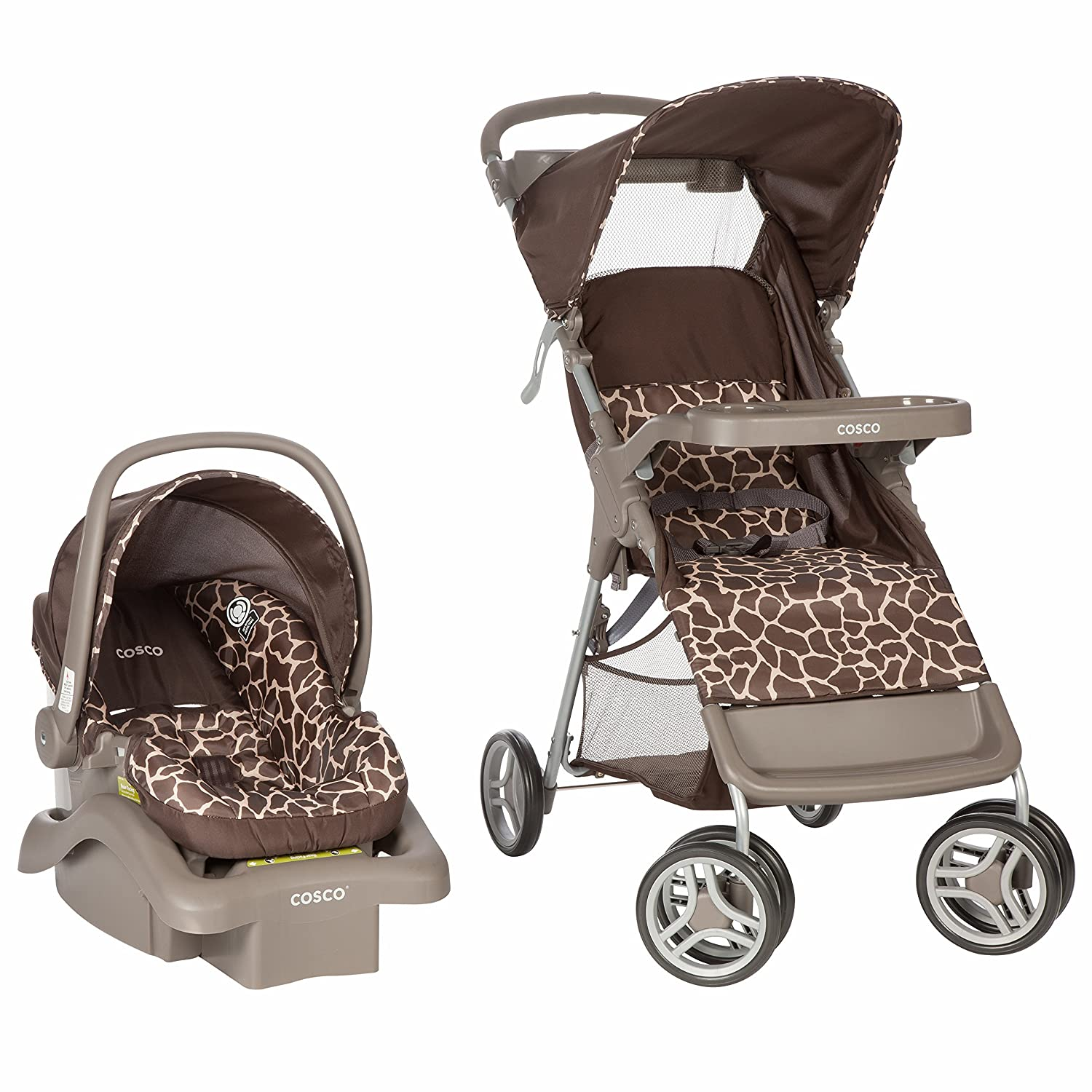 Cosco Lift & Stroll Travel System - Car Seat and Stroller – Suitable for Children Between 4 and 22 pounds, Quigley Dorel Juvenile Group
