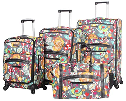 7083602205 Amazon.com  Lily Bloom Luggage 4 Piece Suitcase Collection With Spinner  Wheels For Woman (Bliss)  Home   Kitchen