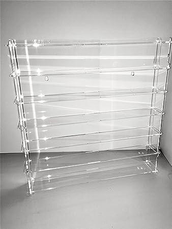 Técnicas Láser 1:43.4.2L6B/24.T Vitrina De Metacrilato, Transparente/Fondo Transparente, Montada mide 50x50x7 cm (altoxanchoxfondo), Set de 11 Piezas: Amazon.es: Bricolaje y herramientas