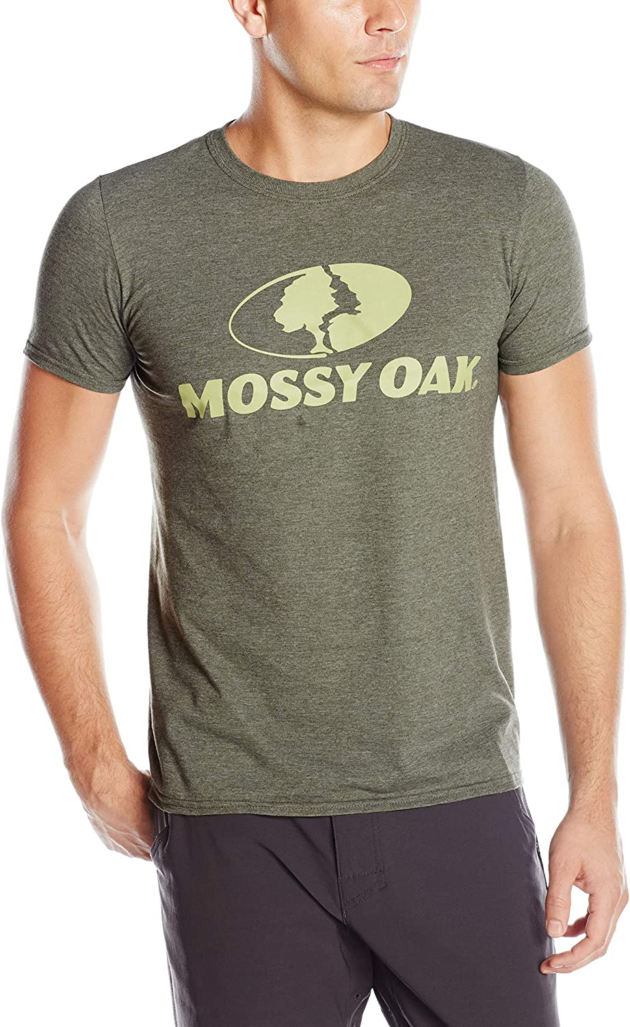 Mossy Oak Mens Short Sleeve Front Tonal Graphic