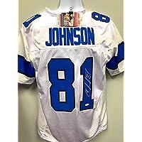 $189 » Calvin Johnson Detriot Lions Signed Autograph Custom Jersey White JSA Witnessed Certified