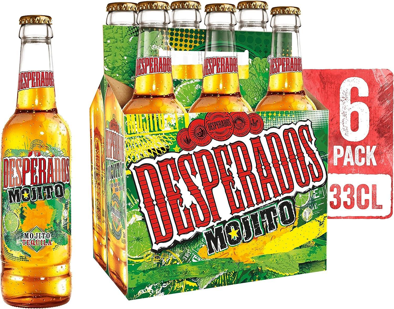 Desperados Mojito Cerveza - Pack de 6 Botellas x 330 ml -Total ...