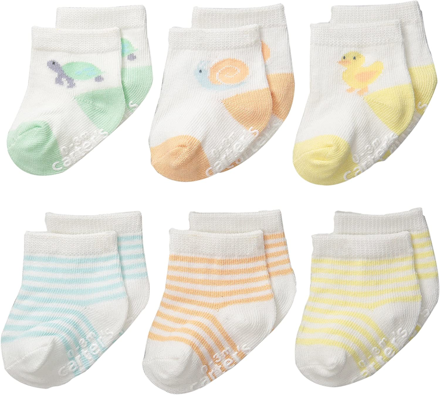Country Kids Unisex-Baby Newborn Nonskid Turncuff 3 Pair