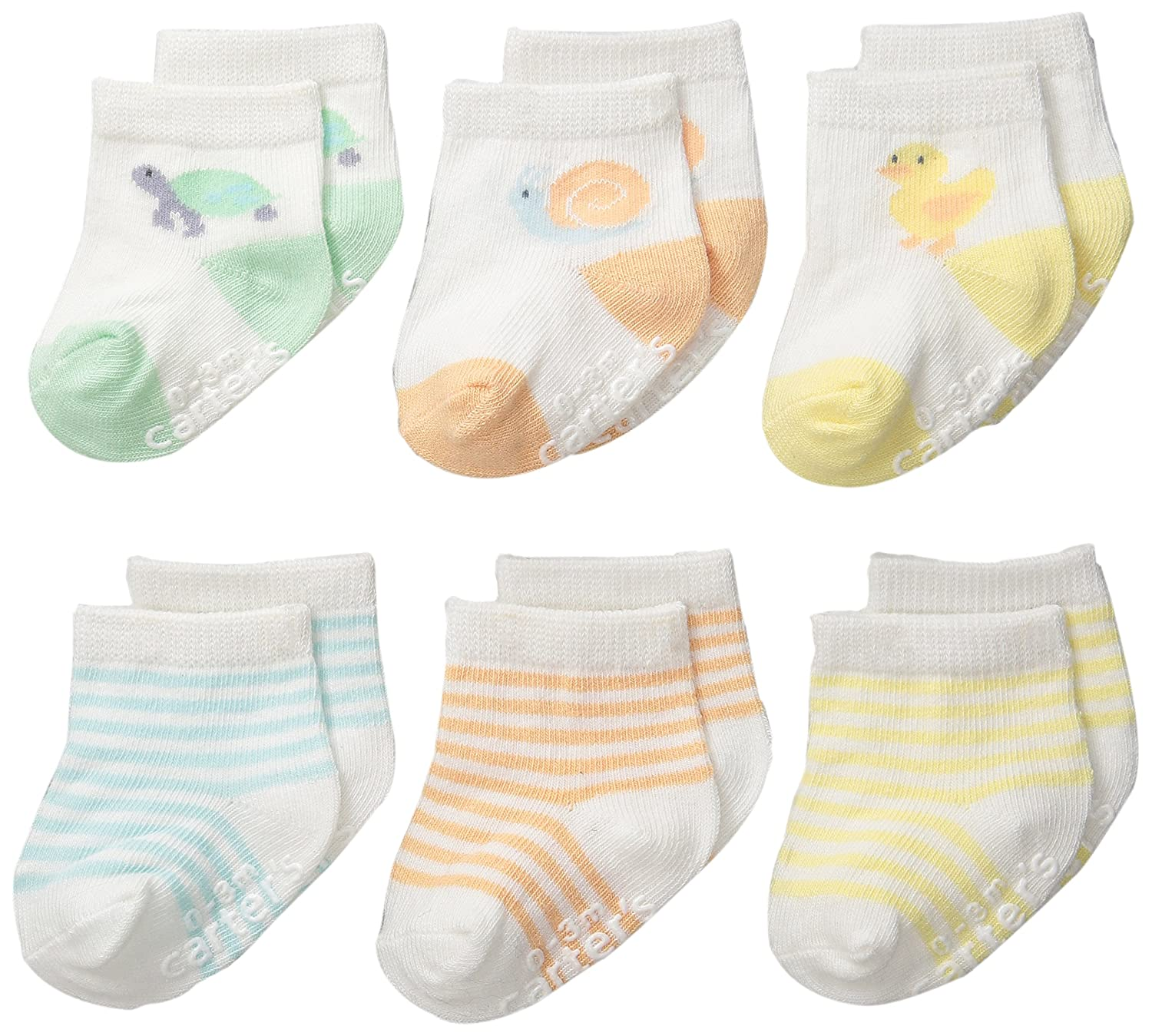 Carter's Unisex-Baby Newborn Color Animal Socks (Pack of 6)