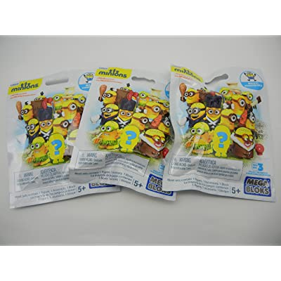 Mega Bloks Minion Mini Figure Blind Pack (3 Pack): Toys & Games
