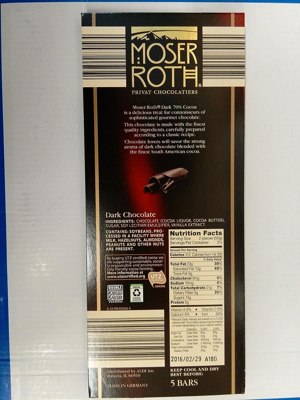 Amazon.com : Moser Roth Fine German European Dark Chocolate 70 ...