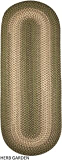 product image for Rhody Rug Ellsworth Indoor/Outdoor Reversible Braided Runner Rug by (2' x 8') Green/Beige