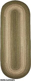 product image for Rhody Rug Ellsworth Indoor/Outdoor Reversible Braided Runner Rug by (2' x 6') Green/Beige