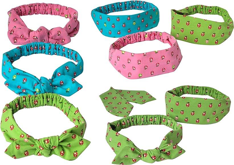 Antonia York Girls 3 Pack Cotton Headbands Stretchy Elastic Head Wraps