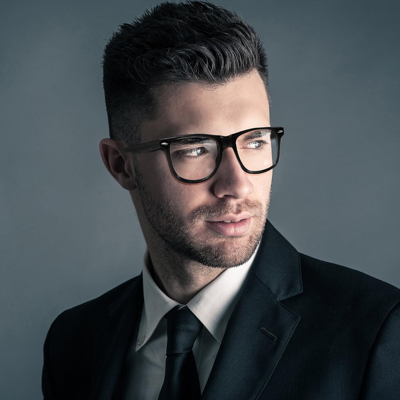 Oramics Hornbrille ohne St/äke f/ür Frauen und M/änner Nerdbrille Retro Brille 1x Schwarze Nerd Brille