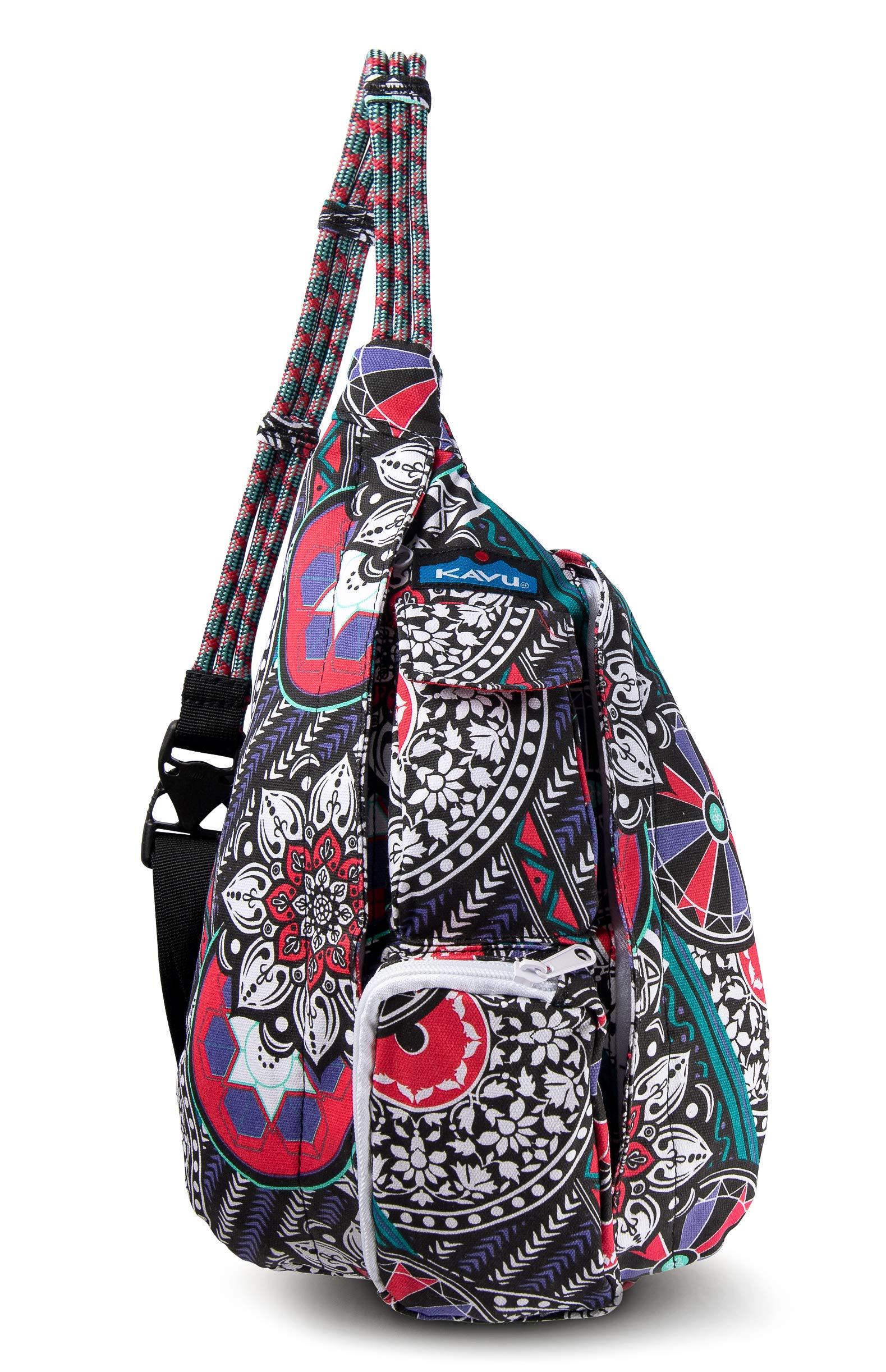 KAVU Mini Rope Bag Crossbody Shoulder Cotton Backpack (Spring Hodgepodge, One Size)