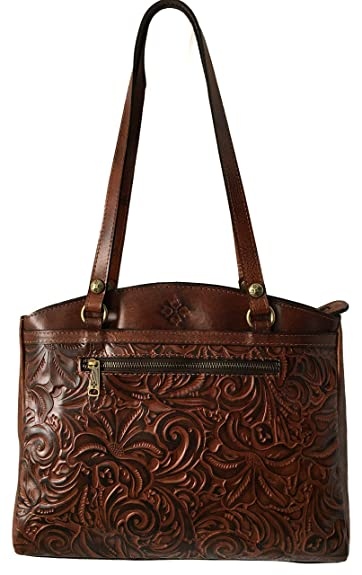 Image Unavailable. Image not available for. Color  Patricia Nash Poppy Tote  Tooled Leather ... 6d188f7591