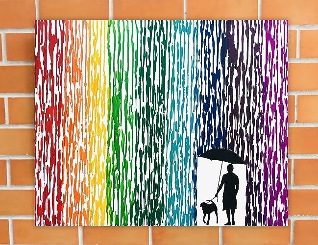 amazon com dog art canvas pet silhouette art pet memorial