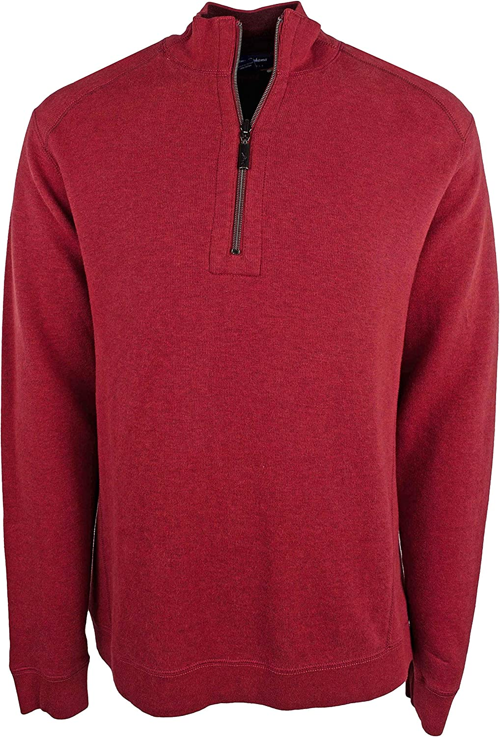 Tommy Bahama Mens Big and Tall Flip Side Classic Reversible Half-Zip Sweater