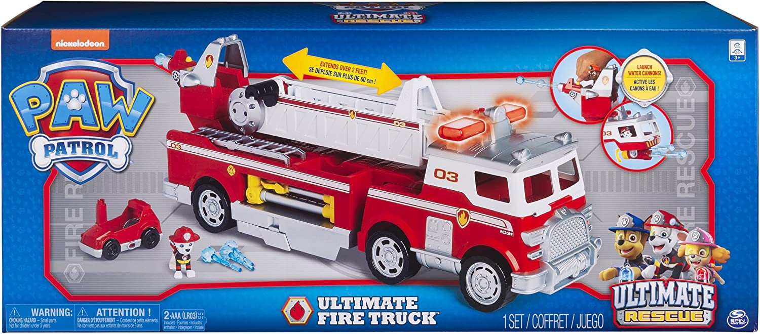 PAW PATROL MARSHALL MAKE YOUR OWN FIRE TRUCK 3D TOY KIDS GIFT FUN VEHICLE NEW