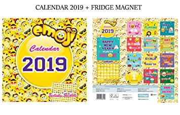 Emoji Calendario Oficial 2019 + Emoji imán para nevera: Amazon.es ...
