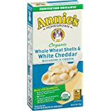 Annie's Organic Macaroni and Cheese, Whole Wheat Shells & White Cheddar Mac and Cheese, 6 oz Box (Pack of 12)