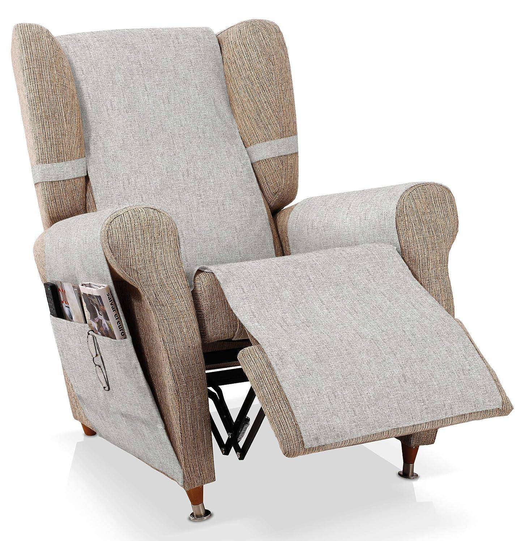 Bartali Cubre sillón Relax Pharma , Crudo, 1 plaza