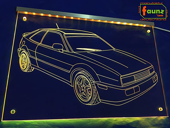 Grabado LED Cartel detalle Dibujo para coche vehículo Tuning ...