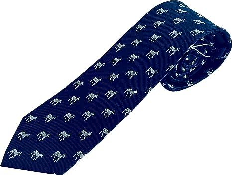 Corbata de hombre con animal caballo, corbata azul, : Amazon.es ...