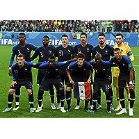 Poster Football Equipe de France - Format A3 (42 cm x 29.7 cm)