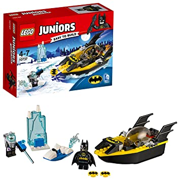 DC Comics LEGO 10737 Juniors Batman Vs. Mr. Freeze Superhero Toy ...