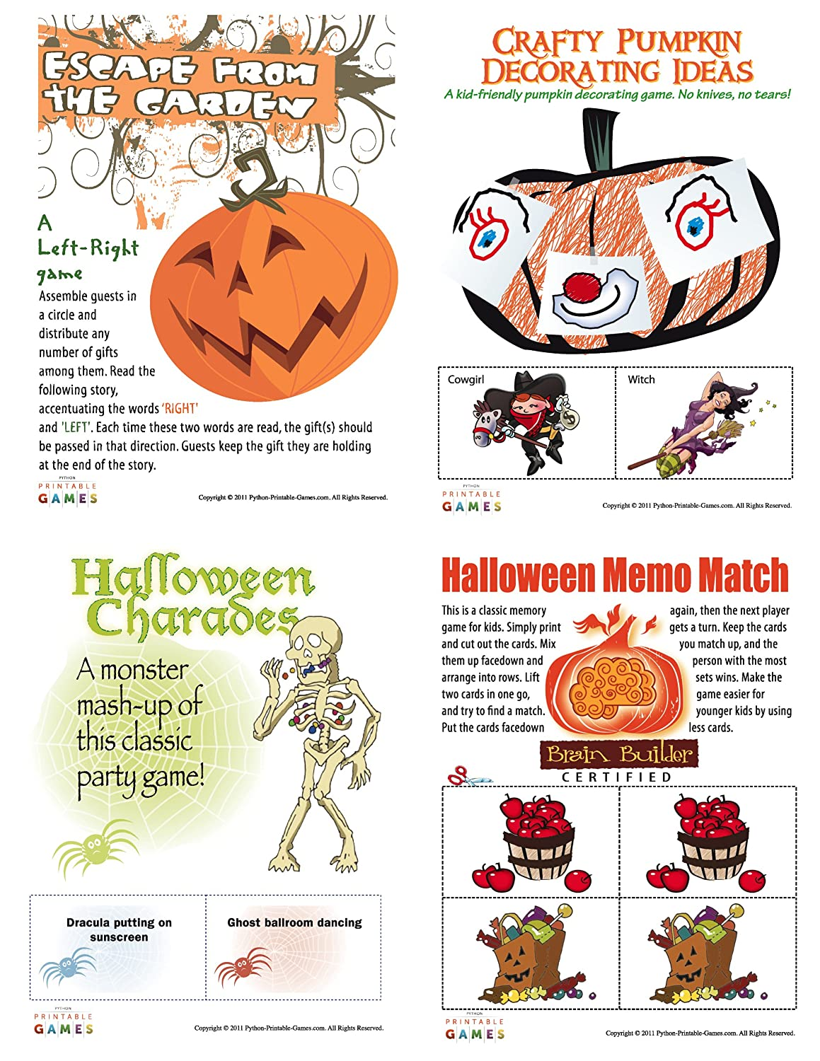 graphic regarding Printable Holloween Games named : Printable Halloween Bash Video games Pack [Obtain