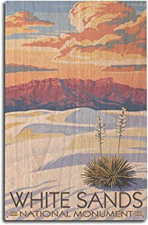 product image for Lantern Press White Sands National Monument, New Mexico - Sunset Scene (10x15 Wood Wall Sign, Wall Decor Ready to Hang)